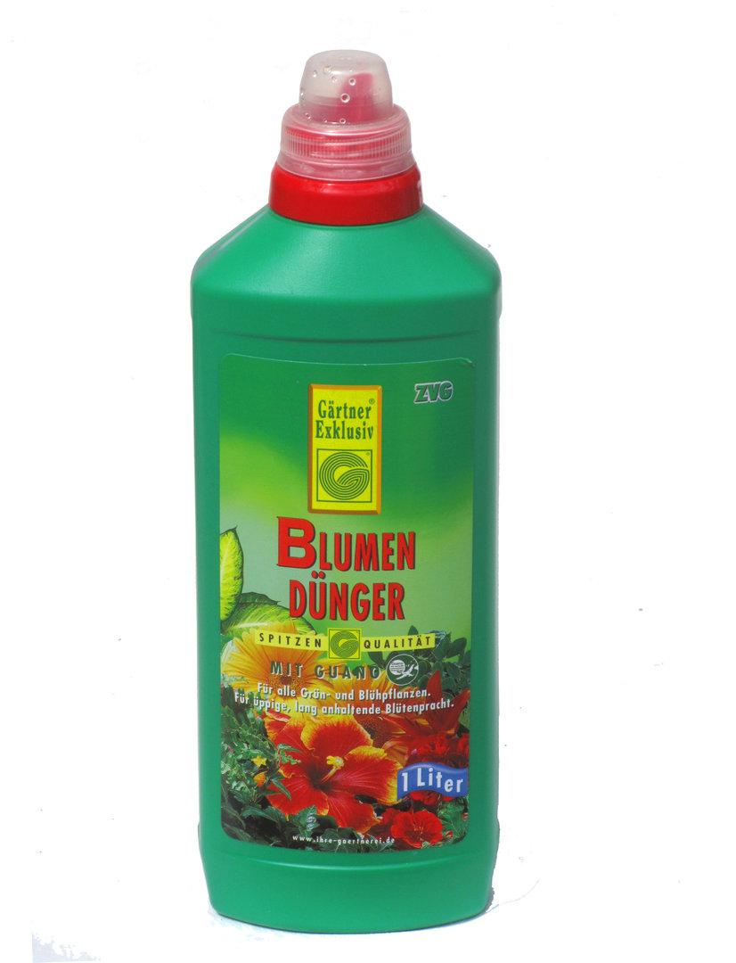 Blumendünger mit Guano  - Flüssigdünger  1 Liter